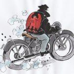 tardi Homme à la moto